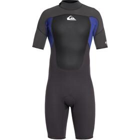 Quiksilver 2/2mm Prologue Body a maniche corte con zip posteriore Uomo, nero/blu